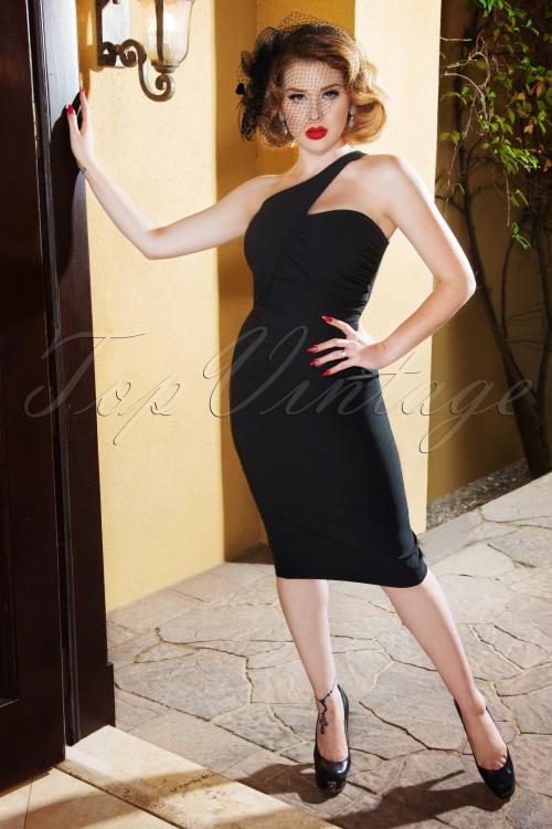 Vintage Diva 28815 Eva Pencil Dress in Black 20181114 2W