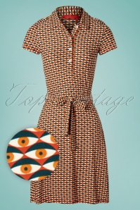 Bakery Ladies 60s Eye Polo Dress in Ginger
