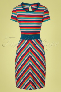 Bakery Ladies 60s Pacific Stripes Dress in Multi