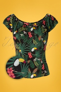 Collectif Clothing 27402 Lorena Tropicana Top In Multi 20180813 001Z