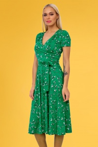 Vintage Chic 28760 Swing Dress in Green 20190305 02