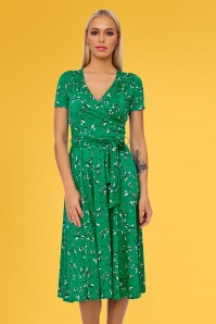Vintage Chic 28760 Swing Dress in Green 20190305 01
