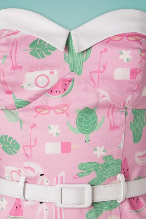 11e766c5950063 Collectif Clothing 27410 Monica Summer Flamingo Pencil Dress 20180815 002W