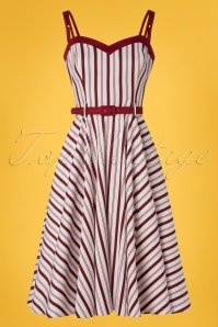 Collectif Clothing 27420 Nova Candy Stripe Swing Dress 20180814 004W