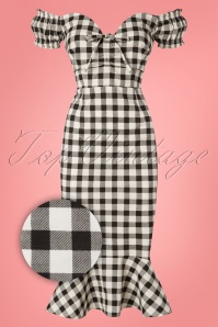 Collectif Clothing 27409 Sasha Vintage Gingham Dress 20180815 002Z