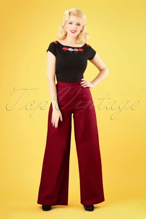 Collectif Clothing 27449 Opal Classic Cotton Trousers 20180816 007W