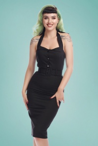 Collectif Clothing 27378 Wanda Plain Pencil Dress 20180815 020W