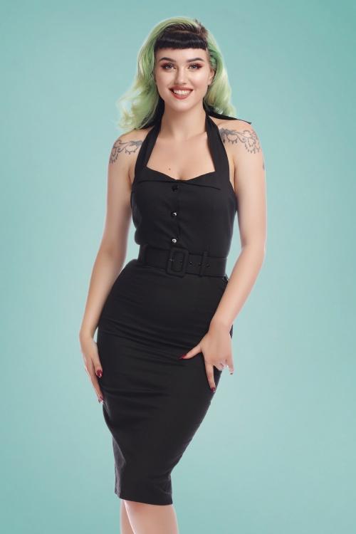 Collectif Clothing 27378 Wanda Plain Pencil Dress 20180815 020W