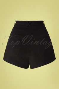 Bright and Beautiful 27584 Madison Cord shorts in Black 20181217 006W