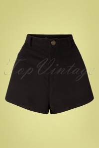 70s Madison Cord Shorts in Black