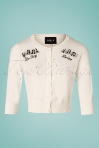 Collectif Clothing 27379 Be Bop Cardigan in Ivory 20180813 001W