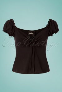 50s Sasha T-Shirt in Black