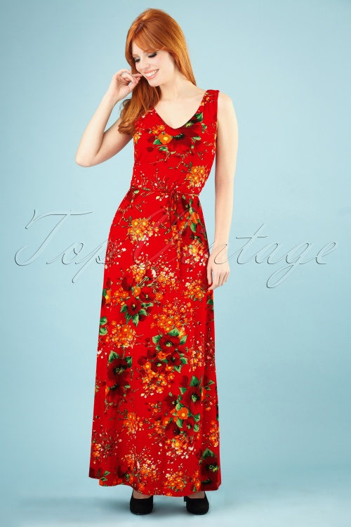 King Louie 27232 Fiery Red Anna Maxi Dress Splendid 20181121 009W