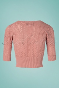 Collectif Clothing 27373 Linda Cardigan in Pink 20180813 003W