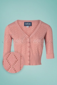 50s Linda Cardigan in Old Pink