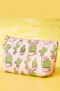 Cacti Party Make Up Pouch Années 60 en Rose