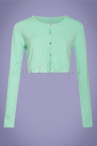 50s Carrie Cropped Cardigan in Mint