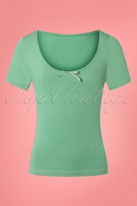 50s Roberta Plain T-Shirt in Antique Green