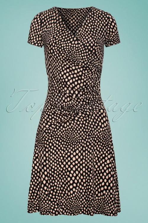 Smashed Lemon Black and Beige Dress 27735 1W