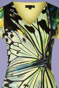 Smashed Lemon 27740 Green Butterfly Dress 20190208 002V