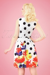Smashed Lemon 27745 White Big Dot Floral Dress 2W