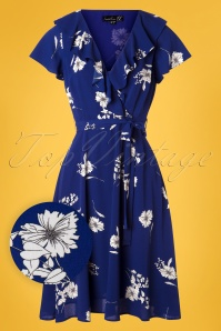 Smashed Lemon 27759 Cobalt Blue Floral Dress 20190326 002W1