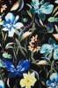 Smashed Lemon 27758 Black and Floral Pencil Dress 20190208 005