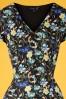 Smashed Lemon 27758 Black and Floral Pencil Dress 20190208 001V