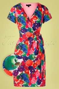 Smashed Lemon 27757 Multi Fruits Floral Dress 20190208 003W1