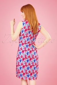 Smashed Lemon 27761 Mint Fuchsia Floral Dress 2W