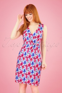 Smashed Lemon 27761 Mint Fuchsia Floral Dress 1W