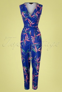 60s Julia Jumpsuit in Cobalt Blue
