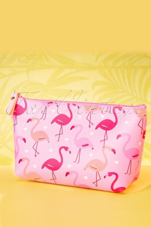 Collectif Clothing 27029 Pouch Makeup Flamingo Parade Roze 20190314 034W