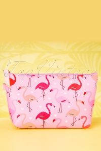 Collectif Clothing 27029 Pouch Makeup Flamingo Parade Roze 20190314 017W
