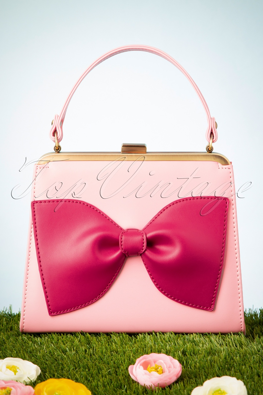 Vintage & Retro Handbags, Purses, Wallets, Bags 50s Inez Life Is Better in Pink Handbag �54.35 AT vintagedancer.com
