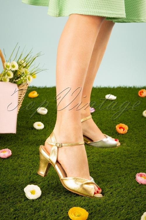 TopVintage BoutiqueCollection 28408 Ava Sandal Gold Silver 20190226 0015W