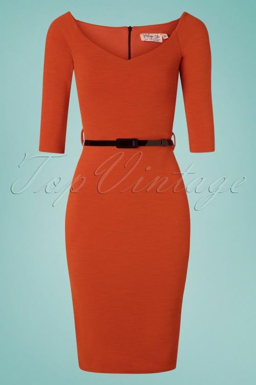 Vintage Chic 28954 50s Neila Cinnamon Pencil Dress 20190326 003W