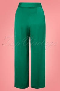 Closet London 30160 Pleated Green Trousers 20190327 004W