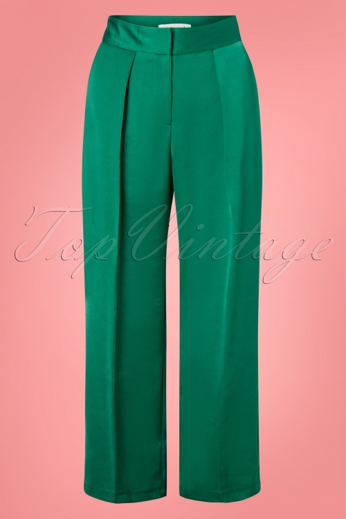 Closet London 30160 Pleated Green Trousers 20190327 003W