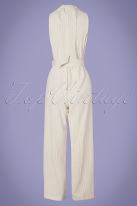 Closet London 30163 Blue Horizon Cream Striped Jumpsuit 20190327 007W