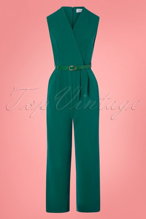 Closet London 30157 Seam Jumpsuit Green 20190327 003W