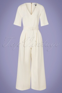 60s Darcy Jumpsuit in Ivory White
