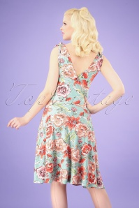 Vintage Chic 29980 50s Grecian Floral Dress 2W