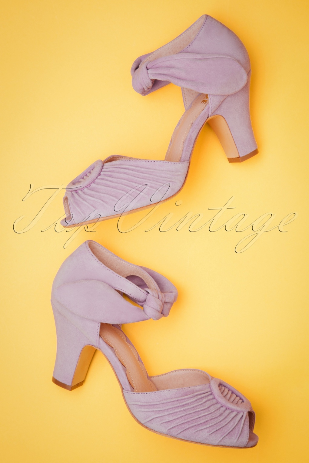 Pin Up Shoes- Heels, Pumps & Flats 40s Loretta Suede Pumps in Lilac £138.09 AT vintagedancer.com