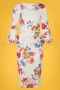 Vintage Chic 28769 White Floral Dress 20190328 004W