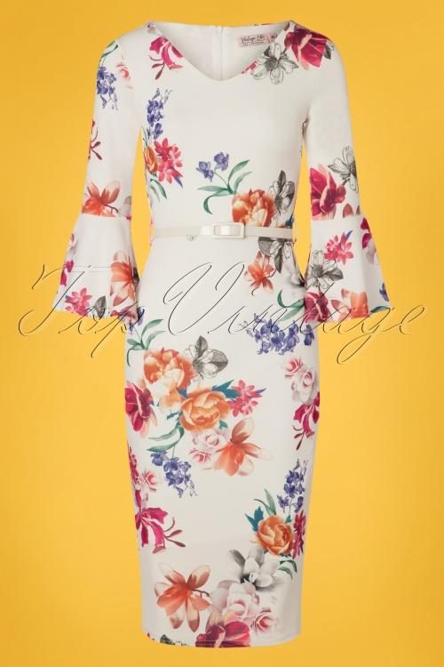 Vintage Chic 28769 White Floral Dress 20190328 004W