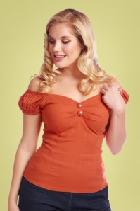 50s Dolores Top Carmen in Burnt Orange