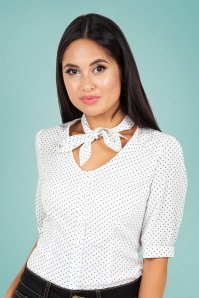 Vixen 28341 40s Blouse Alex Polka White 20170704 001