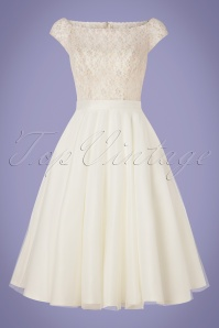 50s Verity Multi Lace Bridal Gown in Ivory White