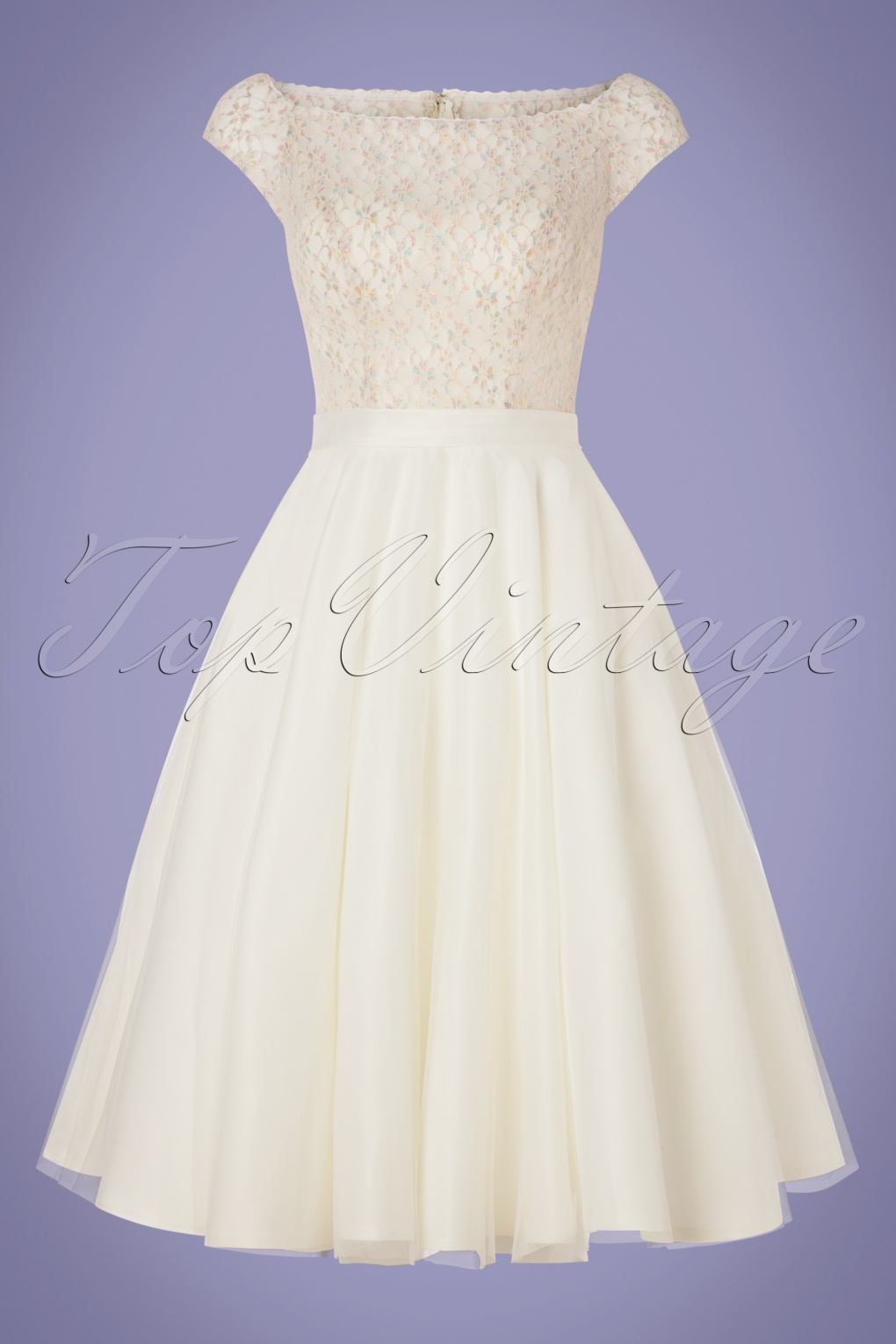1960s Style Dresses, Clothing, Shoes UK 50s Verity Multi Lace Bridal Gown in Ivory White £136.21 AT vintagedancer.com